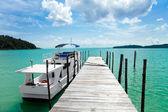 Docked in paradise — Stock Photo