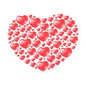 Balões em forma de coração vermelho — Vetorial Stock
