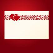 Two heartes postcard — Stock Vector