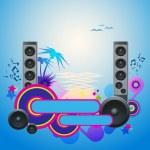 Night Disco Dance Tropical Music Flyer. — Stock Vector