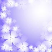 Beautiful blue flower background. — Stock Vector
