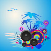 Night Disco Dance Tropical Music Flyer. — Vector de stock