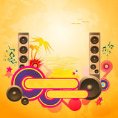Disco Dance Tropical Music Background. — Stock Vector