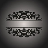 Black vintage pattern on gray background — 图库矢量图片