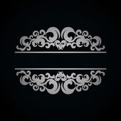 Patrón vintage blanco sobre fondo oscuro — Vector de stock