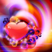 Resumen antecedentes con corazón — Vector de stock