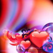 Abstrato com corações — Vetorial Stock