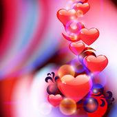 Fondo abstracto con corazones — Vector de stock