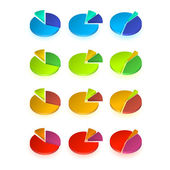 Set of different  pie chart — Cтоковый вектор