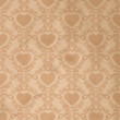 Vintage background with heart — Stock Vector