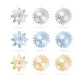 Gears icon set — Stock Vector