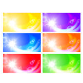 Set of horizontal sunny banners — Stock Vector