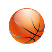 Basketball ball isolated on white background — Stock Vector