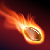 Burning football. — Stock Vector