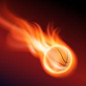 Burning basketball — Stock Vector