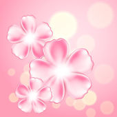 Beautiful pink flower background — Stock vektor