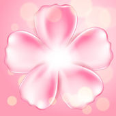 Beautiful pink flower — ストックベクタ