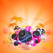 Flyer de musique tropicale de danse disco — Vecteur