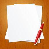 Tužka, papír — Stock vektor