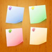 Sada barevných samolepek — Stock vektor
