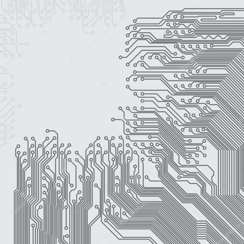 与电路板纹理的抽象背景.eps10 矢量– 图库插图