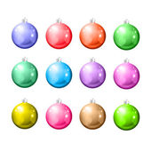 Set of Christmas balls on a white background. — Vetorial Stock