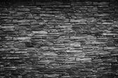 Black stone wall — Stockfoto