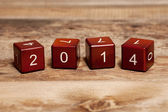 Cubes with numbers. Concept new year 2014. — Stock Photo