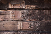Background of logs with pinning — 图库照片