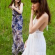 Young girls on the meadow — Stock Photo #43369837