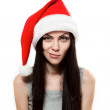 Young girl in Santa Clause hat — Stock Photo #7920304