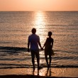Image of two in love at sunset — Stock Photo #22298653