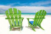 Krzesła na meksykańskiej plaży — Zdjęcie stockowe