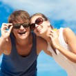 Young couple in sunglasses — Stock Photo #41228907
