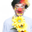 Stock Photo: Isolated Clown In Funny Summer Romance