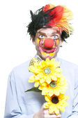 Isolated Clown In A Funny Summer Romance — Stock Photo