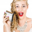 Bride Holding Alcohol Flask During Hens Night Out - Zdjcie stockowe