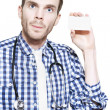 Royalty-Free Stock Photo: Medical Professional With Business Card On White