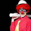 Male Architect Clown Holding Bad Construction Plan — Photo