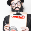 Stock Photo: Legal Advisor Warning About Signing House Contract