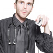 Royalty-Free Stock Photo: Doctor Using Computer Mouse For Online Medicine