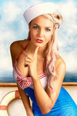 50s And 60s Pinup Style Photo Illustration — Stockfoto
