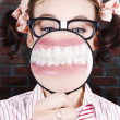 Funny Dentist Showing White Teeth And Big Smile - Стоковая фотография