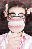 Funny Dentist Showing White Teeth And Big Smile — Stock Photo