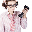 Smart Business Woman Devising Marketing Plan - Stockfoto