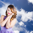Beautiful Romantic Woman In Love Heart Romance - Stockfoto