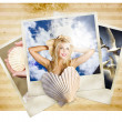 Vintage Travel Love. Retro Holiday Photo Gallery — Stock Photo
