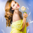 Beauty of romance floating in the summer breeze — Stockfoto