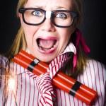 katastrofen är en tidsinställd bomb av explosiva stress — Stockfoto