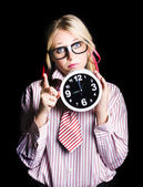 Time management business person signalling time up — Stock Photo